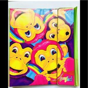Vintage Lisa Frank 'Rainbow Monkey' Trapper Keeper